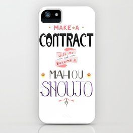 Make a Contract iPhone Case