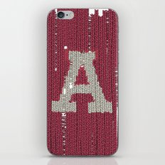 Winter clothes II. Letter A iPhone & iPod Skin