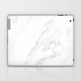 Classic White Marble Laptop & iPad Skin