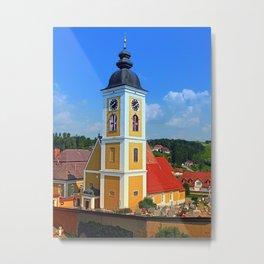 The village church of Niederwaldkirchen II | architectural photography Metal Print