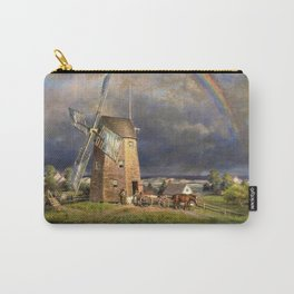 American Masterpiece 'Old Hook Mill, East Hampton, Long Island' by Edward Henry Carry-All Pouch