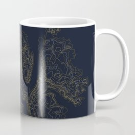 Mount Hood, Oregon Contour Map Coffee Mug