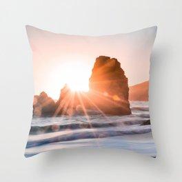 Sea light rock 4 Throw Pillow