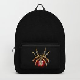 Steampunk Spider with Red Light Bulb Backpack