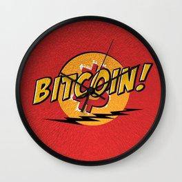 Bitcoin red Tataaa Wall Clock