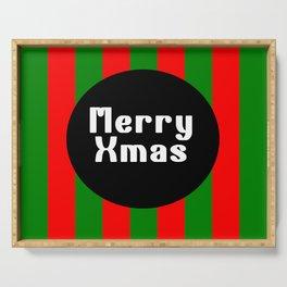 merry Xmas funny logo pattern Serving Tray
