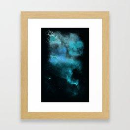 a cold nebula Framed Art Print