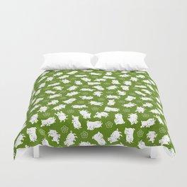 Ditsy Goat Green Duvet Cover