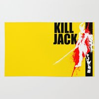 borderlands Area & Throw Rugs featuring KILL JACK - ASSASSIN by Resistance
