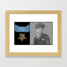 John Basilone and The Medal of Honor Framed Art Print