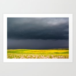 Simply Spring - Thunderstorm Over Yellow Fields in Oklahoma Art Print