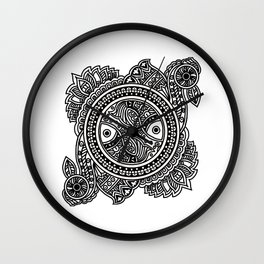 Design inspired from Mithila Painting Wall Clock