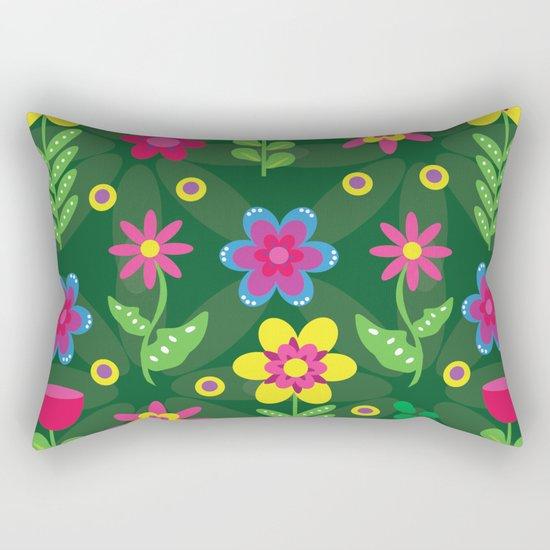 Colorful Flowers Rectangular Pillow