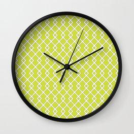 Pear Green Diamond Pattern Wall Clock