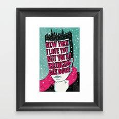 Lyric Poster - New York Framed Art Print