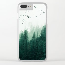 WOOD BIRDS Clear iPhone Case