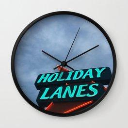 HOLIDAY LANES Wall Clock