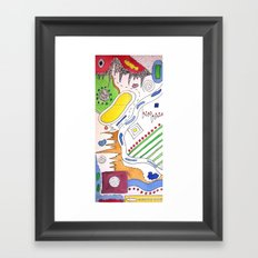 Line VS Color Framed Art Print