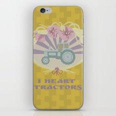 I Heart Tractors - mustard iPhone & iPod Skin