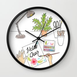 Hello Dear Wall Clock