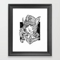 Iron Ladies Angelina Framed Art Print
