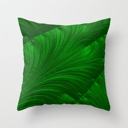 Renaissance Green Throw Pillow