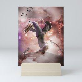 Sloth Saxophone - Sloth Playing Sax Mini Art Print