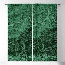 Dark emerald marble texture Blackout Curtain