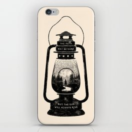 THE PATH MAY BE DARK BUT THE SUN WILL ALWAYS RISE iPhone Skin