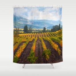 Autumn Vineyard Vista Shower Curtain