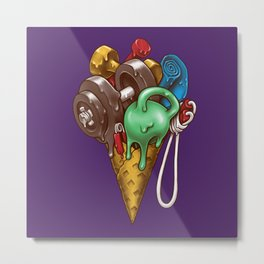 Ice Cream Workout Metal Print