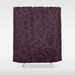 Black Geometric Diamonds Pattern Purple Shower Curtain