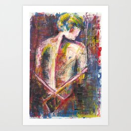 Woman Back Art Print