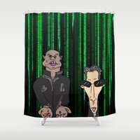 matrix Shower Curtains featuring Matrix by flydesign