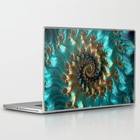 supreme Laptop & iPad Skins featuring Aqua Supreme by Steve Purnell