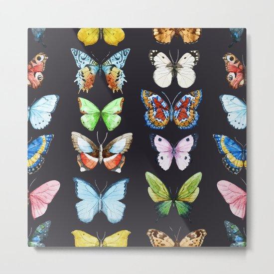Butterfly Pattern 06 Metal Print
