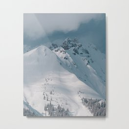 Snowy Winter Alps, Austrian Mountains (Landscape Photography) Metal Print