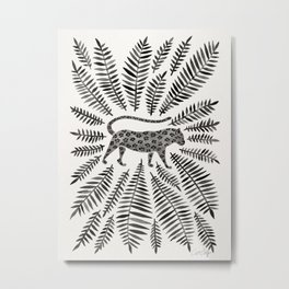 Black Jaguar Metal Print