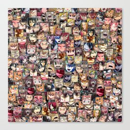 Anime angry faces Canvas Print