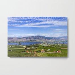 Osoyoos Okanagan Valley British Columbia Canada Vineyard Landscape Metal Print