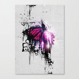 Sad Butterfly Canvas Print