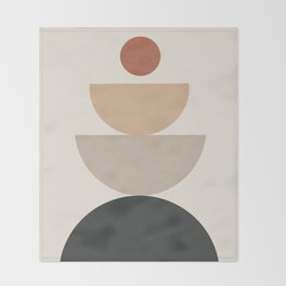 Geometric Modern Art 31 Throw Blanket