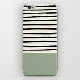 Sage Green x Stripes iPhone Skin