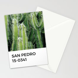 San Pedro Cactus Plant Green Pantone Chip Stationery Cards