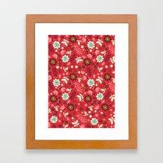 Fresh Blossoms (Reds) Framed Art Print