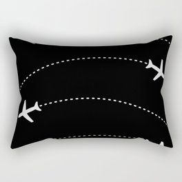 Traveling with Planes Rectangular Pillow