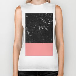 Coral Meets Black Marble #1 #decor #art #society6 Biker Tank