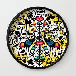 Wycinanki Folk Art Wall Clock