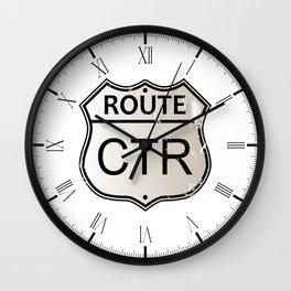 CTR Highway Sign Wall Clock