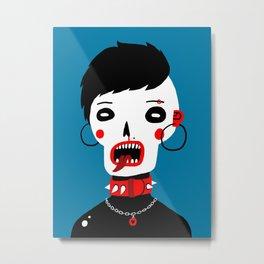 Skull girl Metal Print
